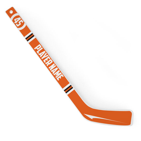 Personalized Knee Hockey Player Stick Circle Number