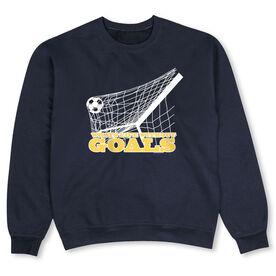 Soccer Crew Neck Sweatshirt - What's Life Without Goals