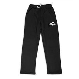 Swimming Fleece Sweatpants - Swimmer Silhouette