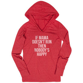 Women's Running Lightweight Performance Hoodie - If Mama Doesn't Run