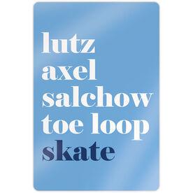 "Figure Skating 18"" X 12"" Aluminum Room Sign - Skate Mantra"