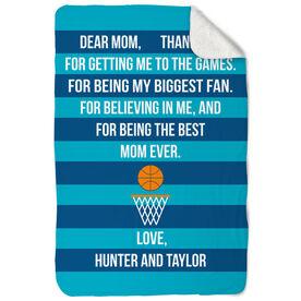 Basketball Sherpa Fleece Blanket - Dear Mom Heart