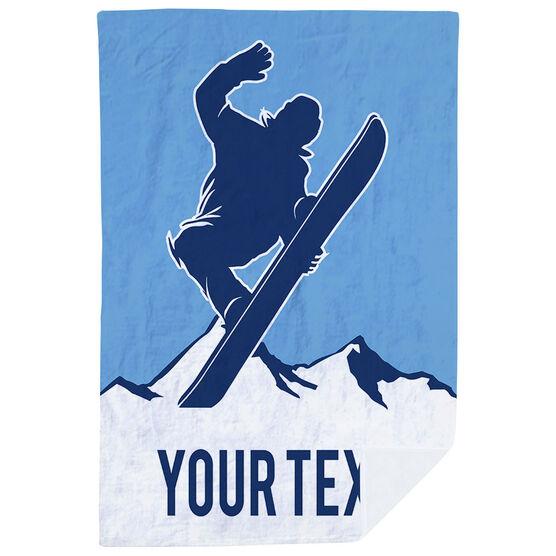 Snowboarding Premium Blanket - Personalized Airborne