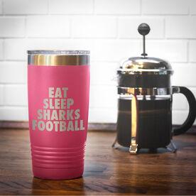 Football 20 oz. Double Insulated Tumbler - Personalized Eat Sleep Football