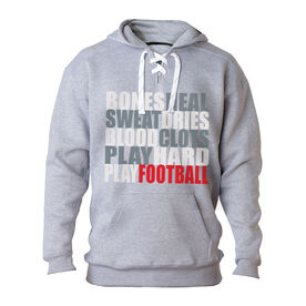 Football Sport Lace Sweatshirt Bones Saying