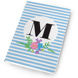 Personalized Notebook - Single Initial Stripes