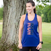Women's Racerback Performance Tank Top - Patriotic Run