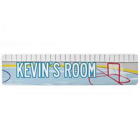 """Hockey Aluminum Room Sign - Personalized Hockey Room (4""""x18"""")"""