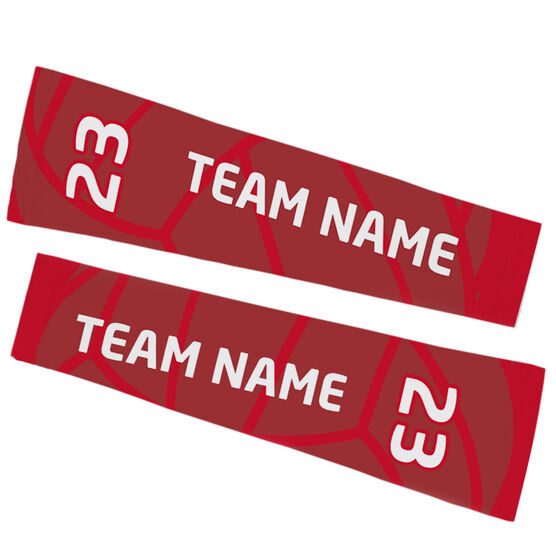 Volleyball Printed Arm Sleeves - Volleyball Team Name and Number