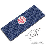 Basketball Hook Board Monogram with Basketball Pattern