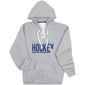 Hockey Sport Lace Sweatshirt - I'd Rather Be Playing Hockey