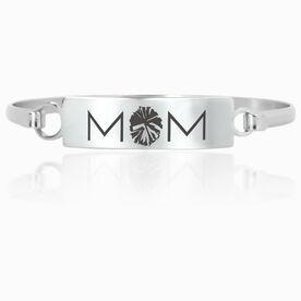Cheerleading Engraved Clasp Bracelet - Mom