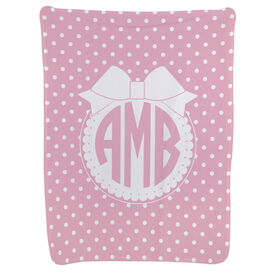 Personalized Baby Blanket - Monogram with Bow