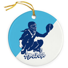 Softball Porcelain Ornament Personalized Softball Catcher