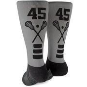 Lacrosse Printed Mid-Calf Socks - Lacrosse Stick Team Colors