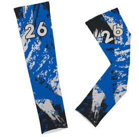 Football Printed Arm Sleeves Football Grunge with Number
