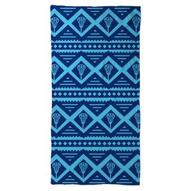 Lacrosse Beach Towel Geometric Lax Pattern