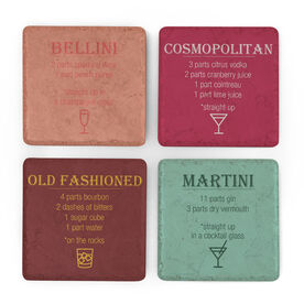 Stone Coasters Set of Four - Drink Recipes
