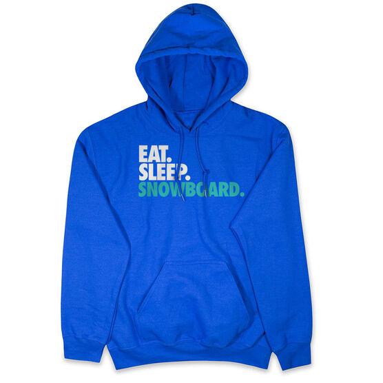 Skiing & Snowboarding Hooded Sweatshirt - Eat. Sleep. Snowboard.