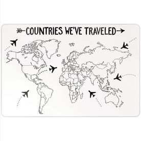 "Personalized 18"" X 12"" Aluminum Room Sign - Countries We've Traveled Outline"