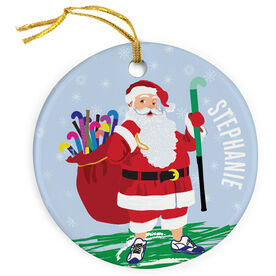 Field Hockey Porcelain Ornament Field Hockey Santa