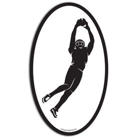 Football The Perfect Catch Oval Car Magnet