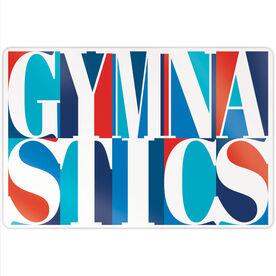 """Gymnastics 18"""" X 12"""" Aluminum Room Sign - Gymnastics Mosaic"""