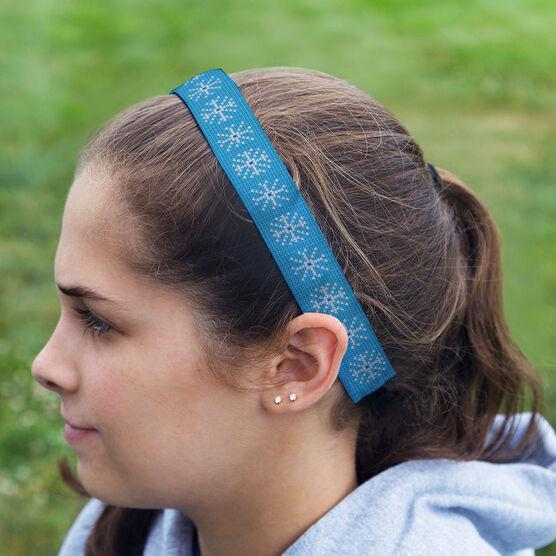Athletic Julibands No-Slip Headbands - Snowflakes Knit