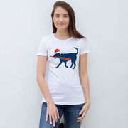 Baseball Women's Everyday Tee - Play Ball Christmas Dog