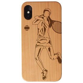 Tennis Engraved Wood IPhone® Case - Tennis Player Female