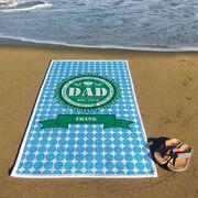 Personalized Premium Beach Towel - Dad Bottle Cap