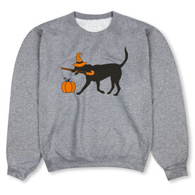 Field Hockey Crew Neck Sweatshirt - Witch Dog