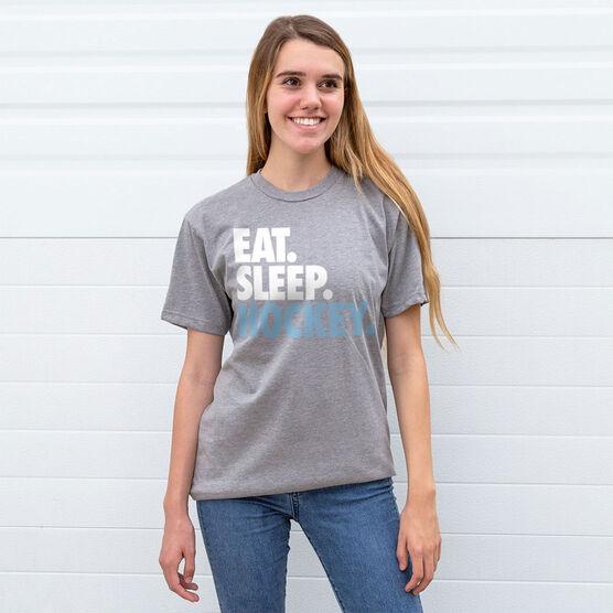 Hockey T-Shirt Short Sleeve Eat. Sleep. Hockey.