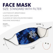 Girls Lacrosse Face Mask - Don't Make Me Use My Lacrosse Mom Voice