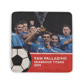 Soccer Stone Coaster - Team Photo with Ball
