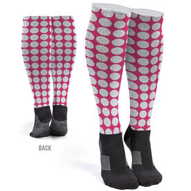 Volleyball Printed Knee-High Socks - Volleyball Pattern