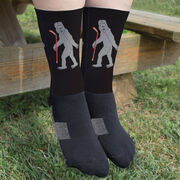 Hockey Printed Mid-Calf Socks - Yeti