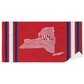Running Premium Beach Towel - New York State Runner