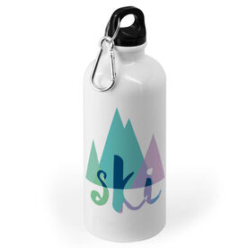 Skiing 20 oz. Stainless Steel Water Bottle - Ski Mountain