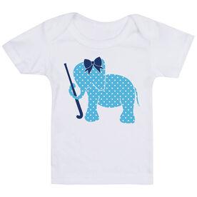 Field Hockey Baby T-Shirt - Field Hockey Elephant with Bow