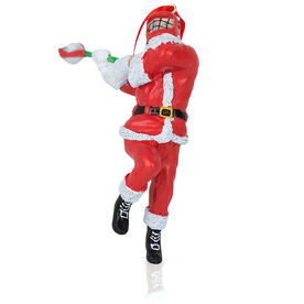Guys Lacrosse Ornament - Santa Lacrosse Player