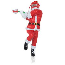 Guys Lacrosse Ornament - Santa Lacrosse Player