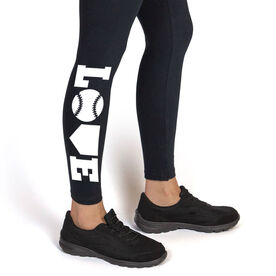 Softball Leggings - Softball Love (White)