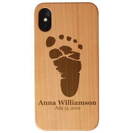 Personalized Engraved Wood IPhone® Case - Baby Footprint