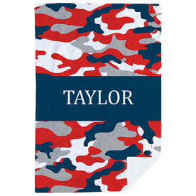 Personalized Premium Blanket - Camo Pattern