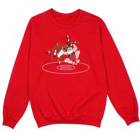 Wrestling Crew Neck Sweatshirt - Wrestling Reindeer