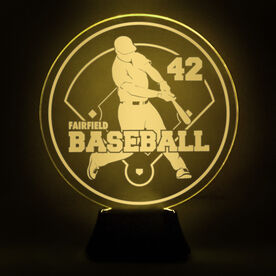 Baseball Acrylic LED Lamp Slugger With Name and Number