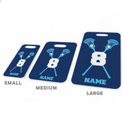 Guys Lacrosse Bag/Luggage Tag - Personalized Guys Crossed Sticks