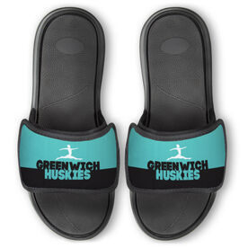 Gymnastics Repwell® Slide Sandals - Team Name Colorblock
