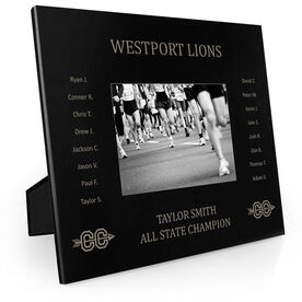 Cross Country Engraved Picture Frame - Team Name With Roster